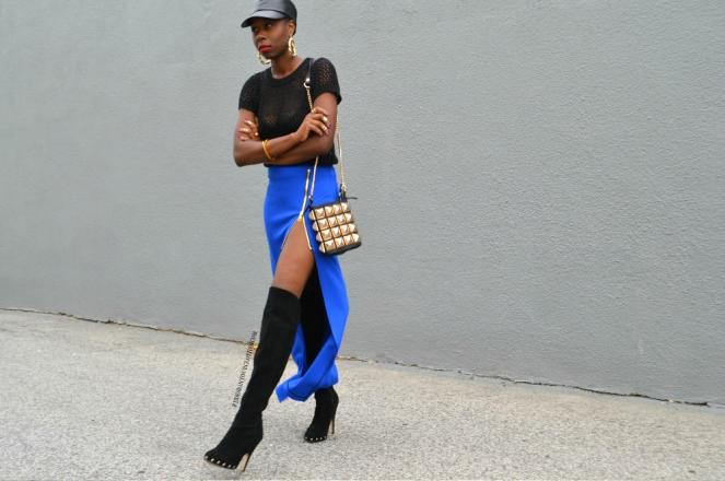 redesignyourclothes DIY Zipper Slit Maxi Skirt3