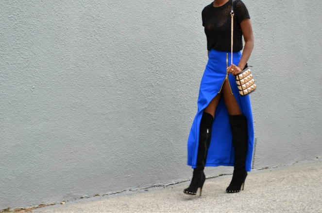 redesignyourclothes DIY Zipper Slit Maxi Skirt4