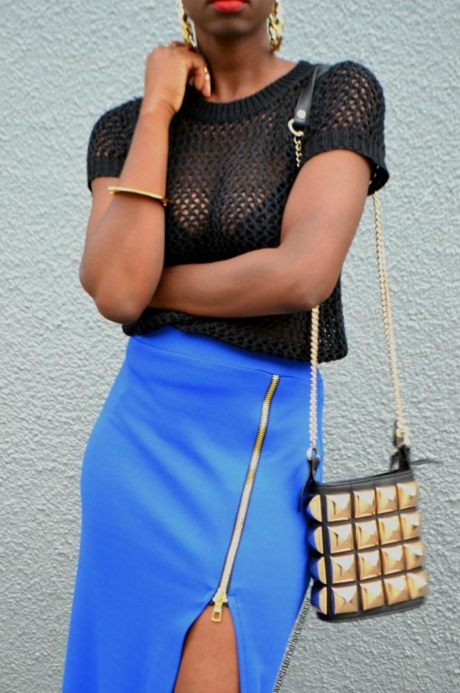 redesignyourclothes DIY Zipper Slit Maxi Skirt7