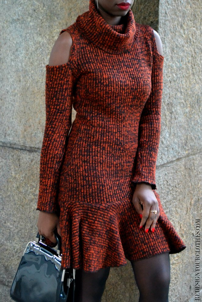 Redesign Your Clothes DIY Sweater Dress66