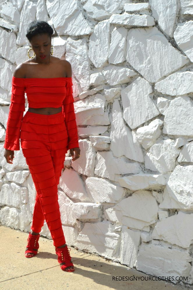 DIY HIGH WAIST TAPERED RUFFLE PANTS 4