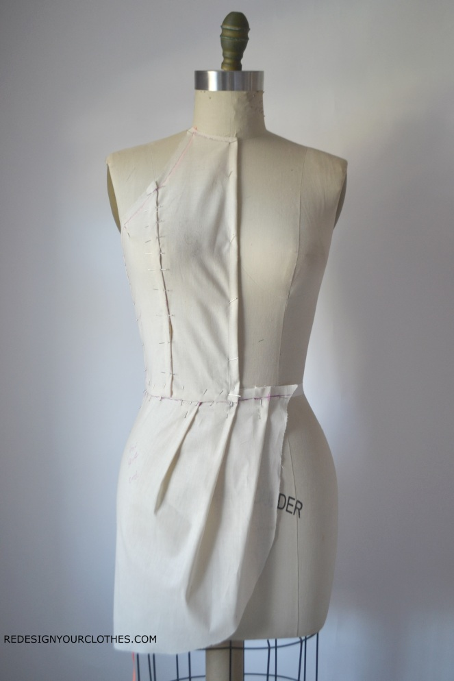 redesignyourclothes-drape-dress-bodice
