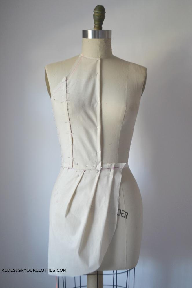 redesignyourclothes-drape-dress-bodice