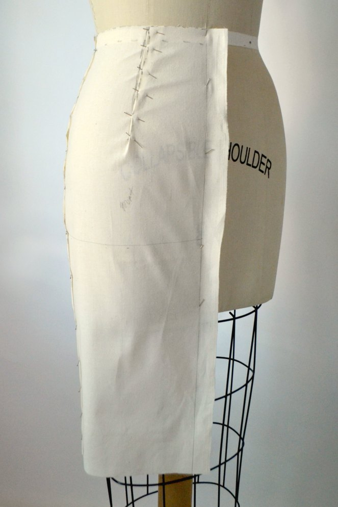 High waist Pencil Skirt drape