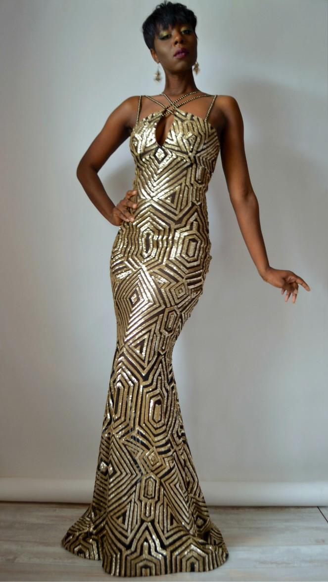 RYC Mermaid Sequin Gown 5