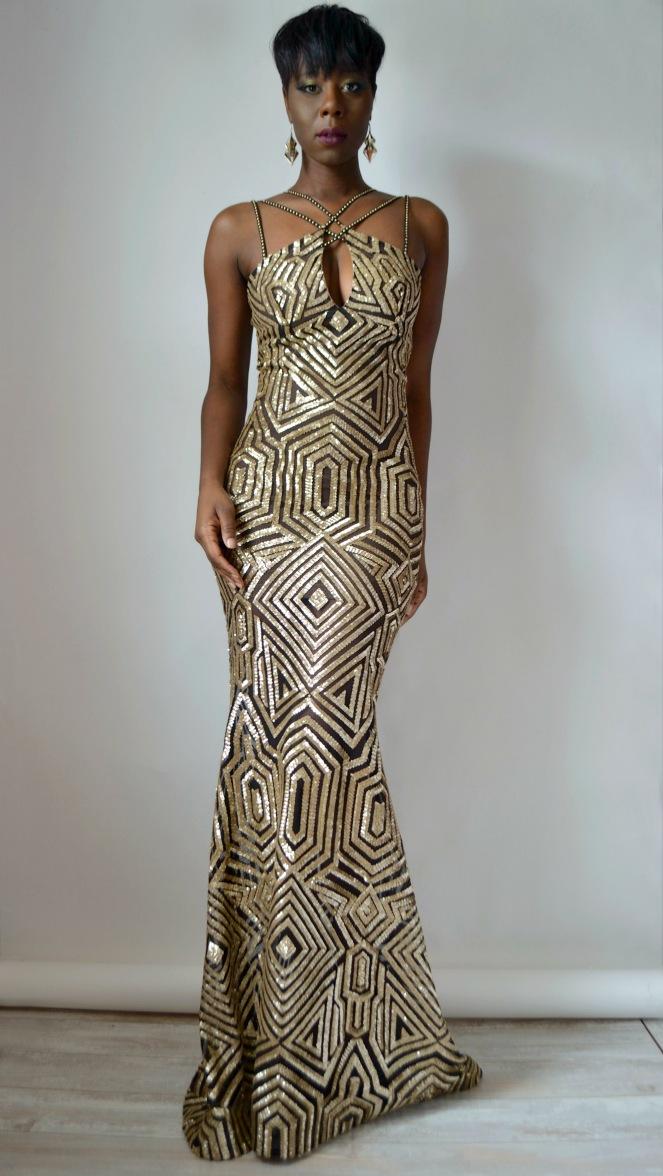 RYC Mermaid Sequin Gown 7