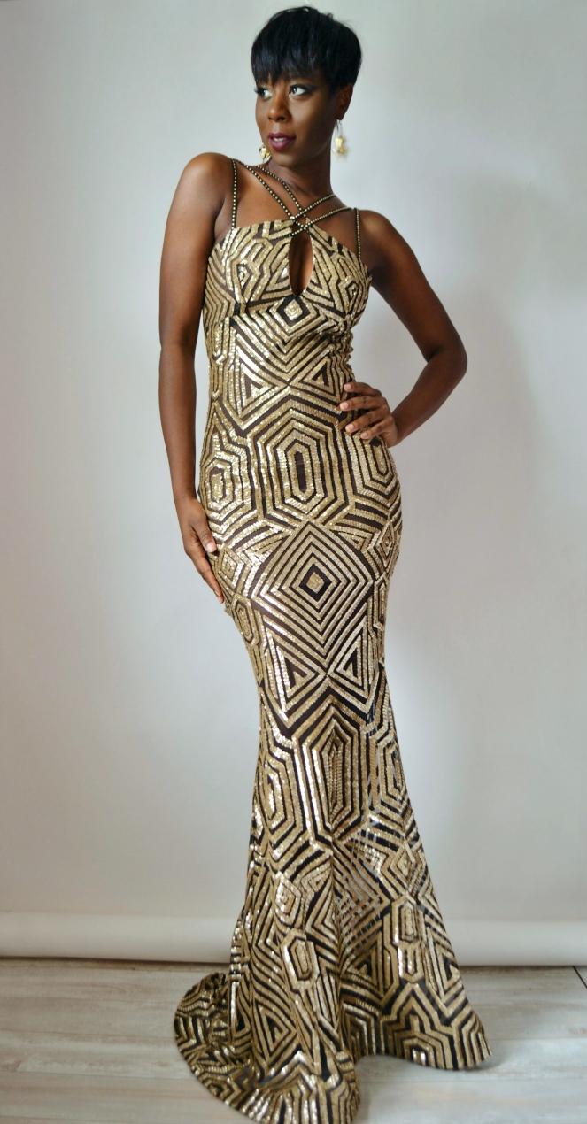 RYC Mermaid Sequin Gown 8